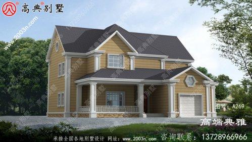 乡村自建美式风格的两层建筑超级