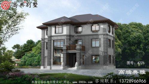 三层中式豪华别墅设计方案,全套