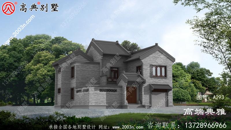 乡村漂亮的中式简约双层小楼图,清爽雅致