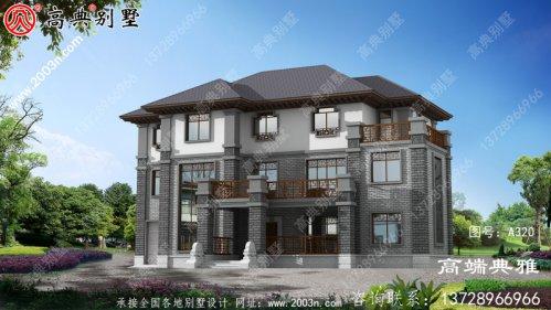 新中式豪华三层建筑的布局也很简单,布局也很
