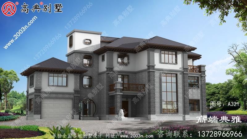 复式中式三层住宅的设计图,外观精致的布局合理