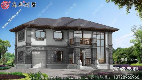 中式二层别墅设计图平面设计图,占地面积218平