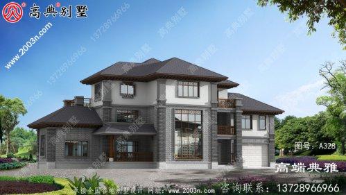 中式三层楼房设计图,农村盖房舒