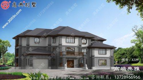 490平豪华大户型的中式三层建筑的设计图