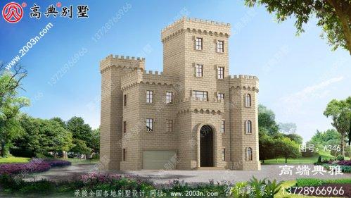 中式三层别墅主体设计方案大气恢弘