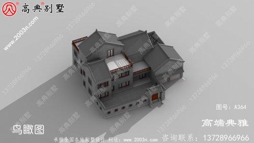 简约精美双层农村自建别墅住宅设计图,带储物