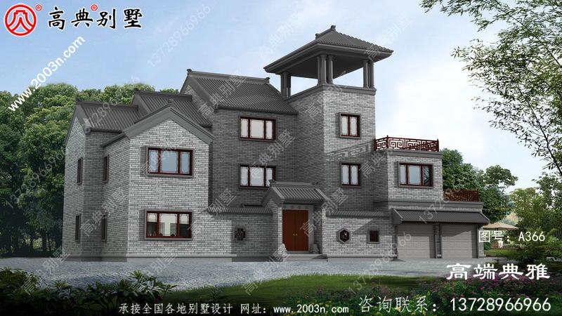 大户型中式三层农村房屋设计大气恢复宏