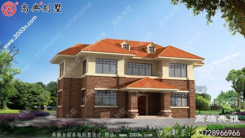 精致的二楼农村自营住宅设计图,拥有储藏室