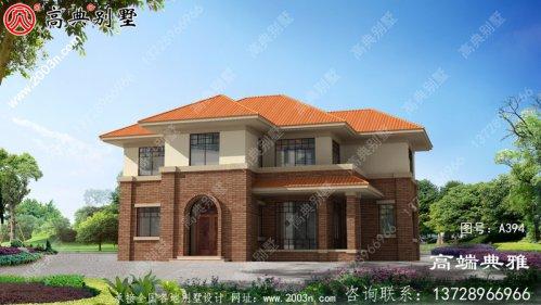 欧式两层别墅的设计图,包括全套施工图效果图