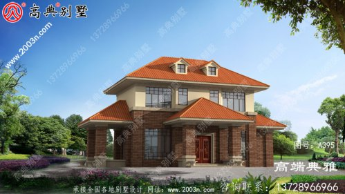 二楼小别墅的设计图,设计图的效果图都包括在