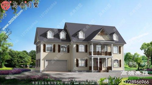 一栋180平的两层精致美式别墅的设计图精致美观