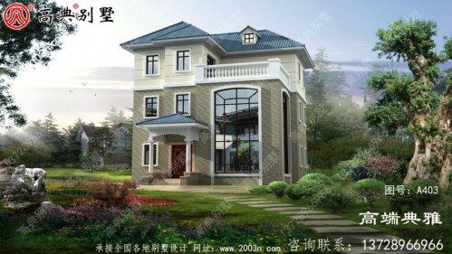 清秀的欧式三层别墅的设计方案和效果