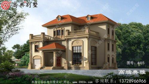 两层半农村自建别墅设计图,复式