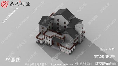 三楼乡村中式别墅,多露台带院子