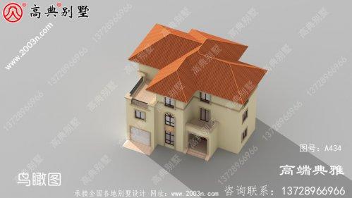 乡村三层欧式别墅设计照片及设计图纸,外型高
