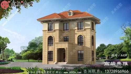 新农村三层简欧别墅最漂亮的设计