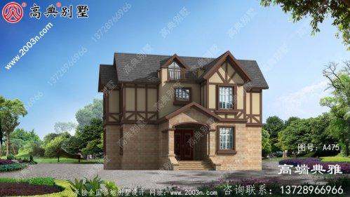 二楼英式别墅设计图纸经典美观(全套施工图)