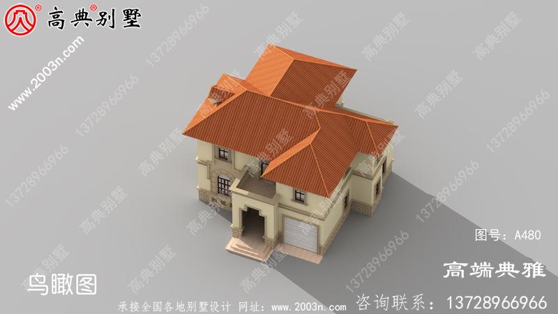 漂亮又简单的二层楼房设计,经济适用型的农村小别墅
