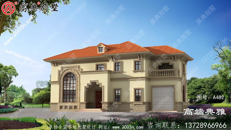 两层简欧建筑设计,经济实用的乡村别墅