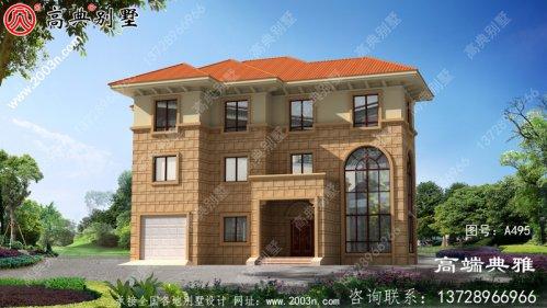 乡村三层豪宅设计图及外型照片,經典房型计划