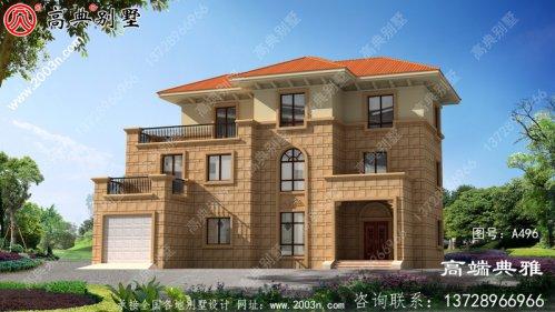 农村三层豪华住宅的设计图和外观图,以及经典