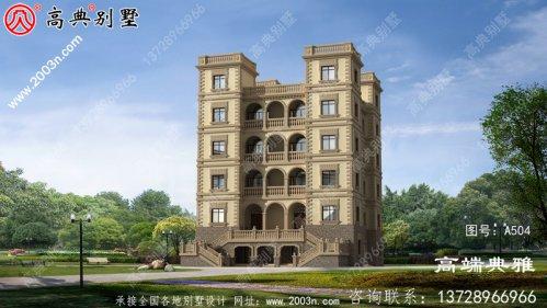 占地320平农村6层别墅自建设计,大户型选择方案