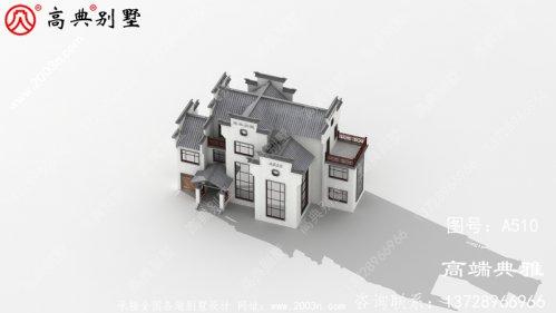中式三层别墅外观设计效果图,复式设计大气奢