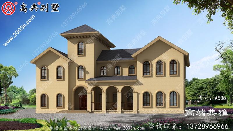 奢华三层别墅设计图纸,整套工程施工方案带设计效果图