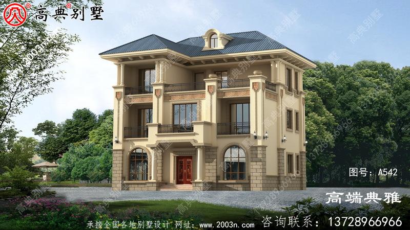 欧式三层住宅设计图纸、新农村住宅图纸