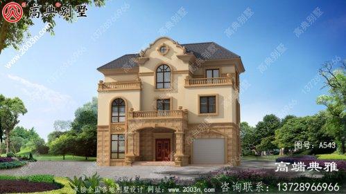带车库的欧式三层住宅设计图大全,新农