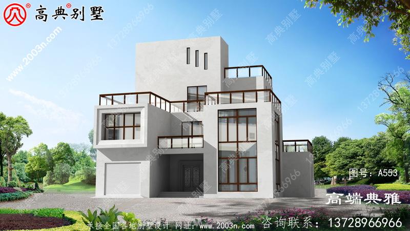 新农村建设现代四层别墅设计图,费用预算33万内
