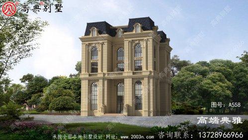 法式五层建筑的设计图纸和图片简单时尚。