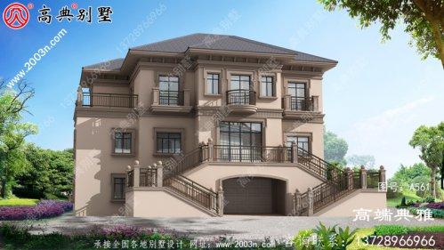 三层住宅的设计图和照片,户型外观别致时尚