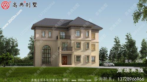 农村三层别墅的设计图纸约40万内
