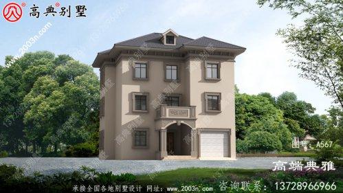 农村三楼别墅设计图纸,成本在50万内