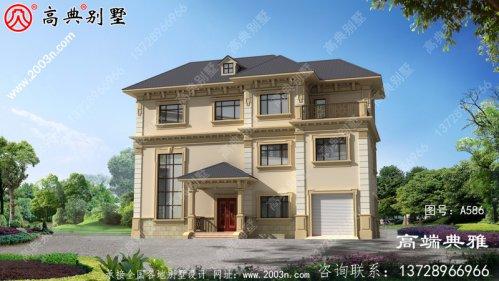 178平欧式三层别墅,含效果大全和