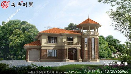 184平方米乡村二层半别墅设计图纸