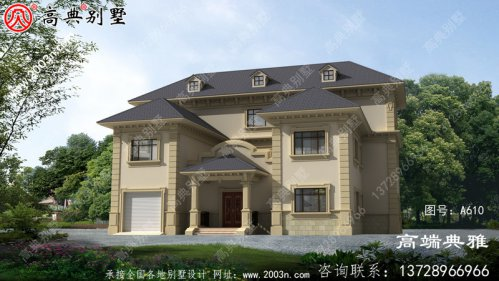高档豪宅别墅三层别墅自建房设计图,大户型房