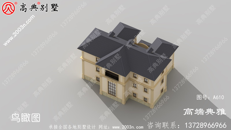 高档豪宅别墅三层别墅自建房设计图,大户型房子經典