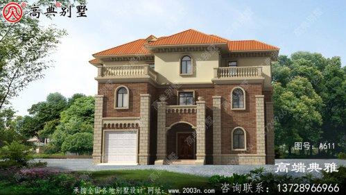 低调简欧三层别墅自建设计,大家庭首选