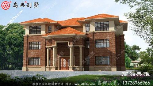 豪华大户型欧式三楼现代别墅设计图,个人别墅