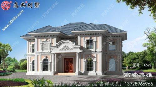 精美欧式两层别墅设计外观效果图,对称设计