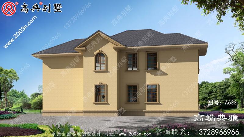 简欧两层别墅,占地218平,造价低经济型