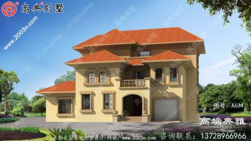 推荐新农村三层住宅设计图纸,简欧风格外观好