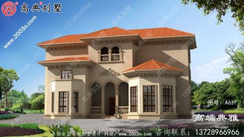 法式三层别墅设计图纸,带阳光房