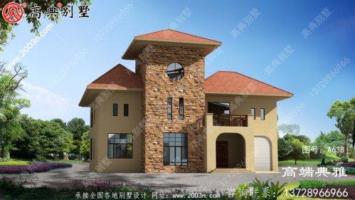 一栋两层楼的简单设计可以用40万内完成。