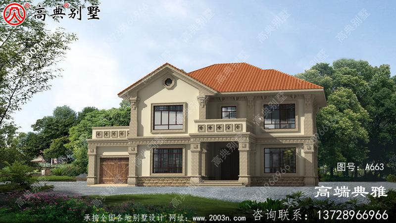 农村别墅房屋设计图,干净经济,施工简单
