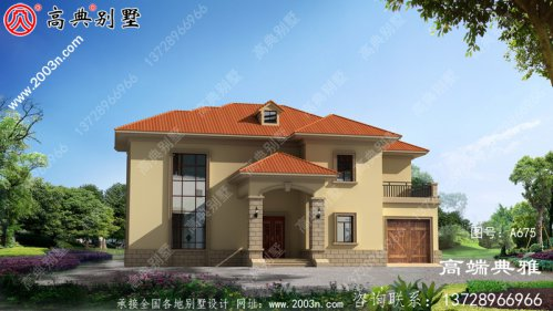 农村简易二楼设计图,外观简单美观,经典时尚