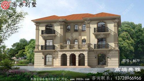 234平方米大户型欧式三层别墅设计图,对称设计