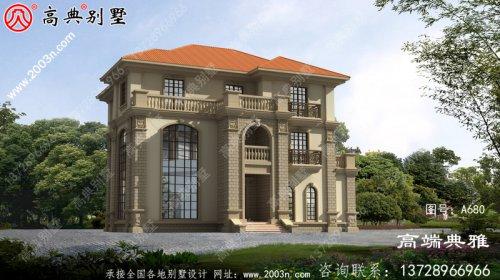 欧式三屋别墅设计图,复式设计高档大气